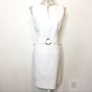 David Meister Sheath Dress Sz. 10 White Career